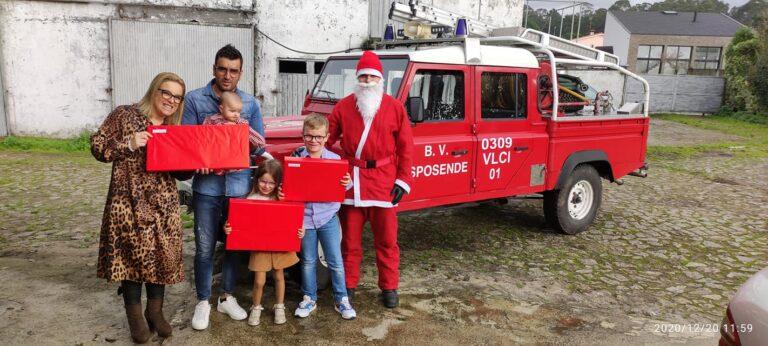 Pai Natal visitou os filhos dos Bombeiros de Esposende