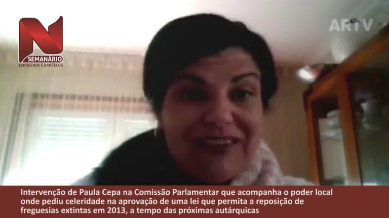 Intervenção de Paula Cepa na Assembleia da República defendendo a desagregação imediata de freguesias