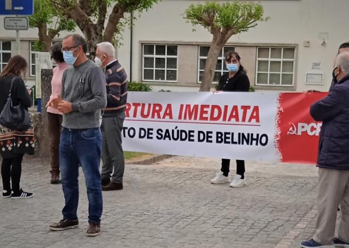 PCP manifestou-se em Belinho pela reabertura imediata do Centro de Saúde (c/ video)