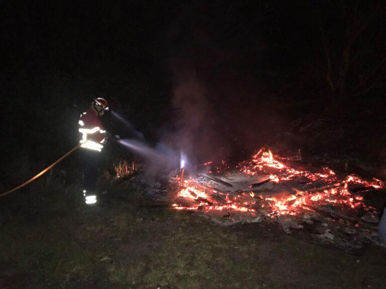Incêndio em Esposende esta madrugada de domingo