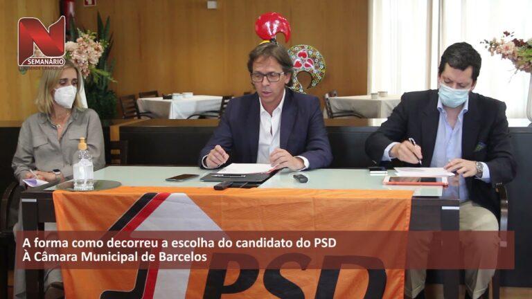 Mário Constantino (PSD) apresentou candidatura – c/ vídeo