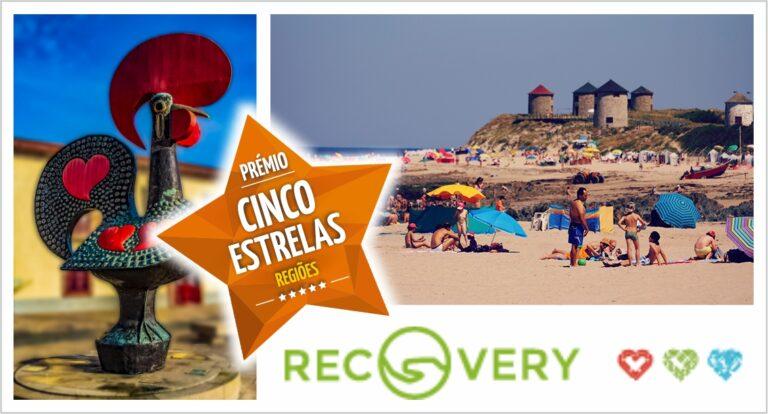 Galo de Barcelos, praia da Apúlia e Associação Recovery IPSS distinguidos pelo Prémio Cinco Estrelas Regiões