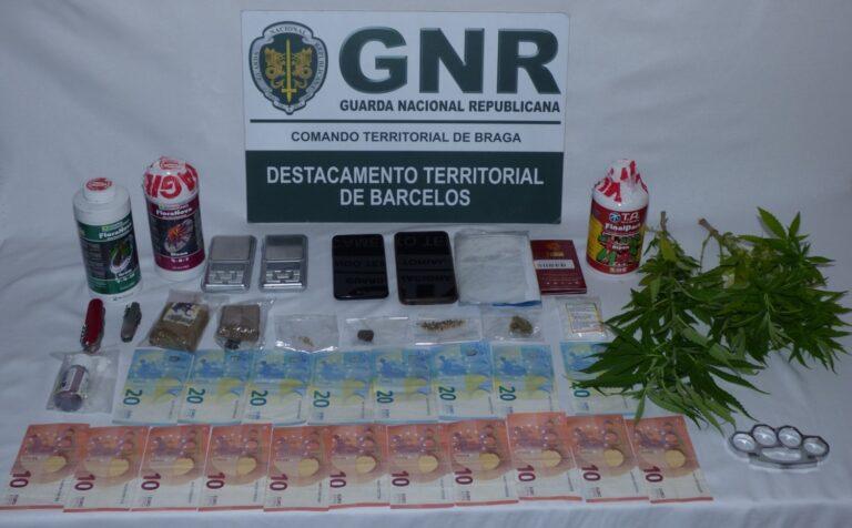 GNR de Barcelos deteve dois indivíduos por trâfico de estupefacientes