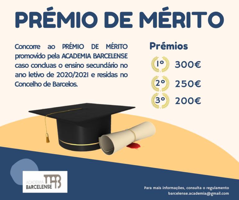Prémio de Mérito Academia Barcelense 2021