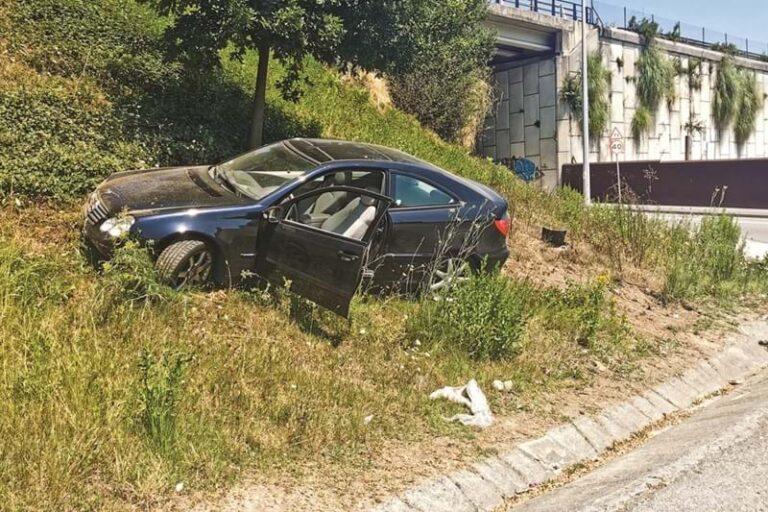 Despistou-se em Matosinhos com carro roubado em Esposende