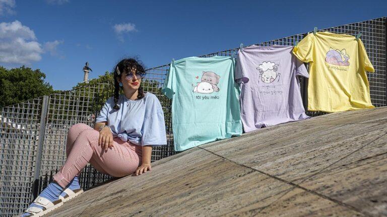 As t-shirts da Émoi são produzidas em Esposende
